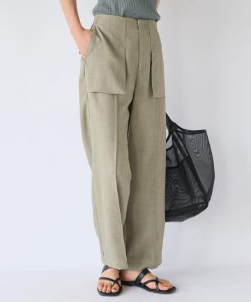 La boutique BonBon(ラブティックボンボン) 【手洗い可】ポケットスラックスパンツ
