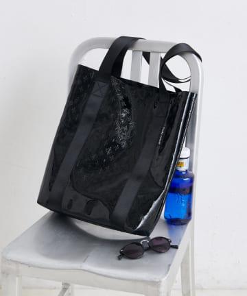 Daily russet(デイリー ラシット) PVC モノグラムトートバッグ