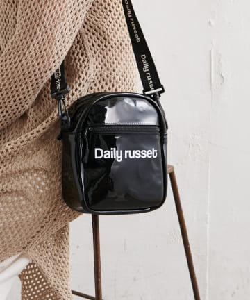 Daily russet(デイリー ラシット) PVC ロゴポシェット