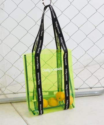 Daily russet(デイリー ラシット) PVC ロゴトートバッグ