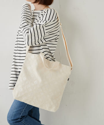 Daily russet(デイリー ラシット) モノグラム刺繍2wayトートバッグ