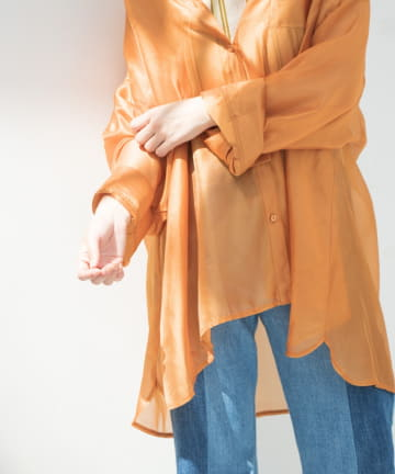 Kastane(カスタネ) 透けフィラメントBIGシャツ