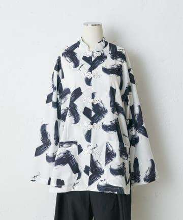 ear PAPILLONNER(イア パピヨネ) 【A PUPIL(ア ピューピル)】チャイナボタンシャツ