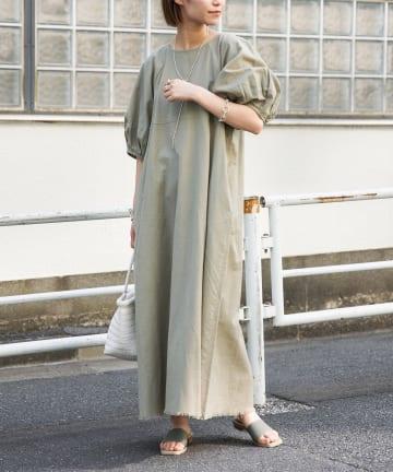 CIAOPANIC TYPY(チャオパニックティピー) india綿麻裾フリンジワンピ