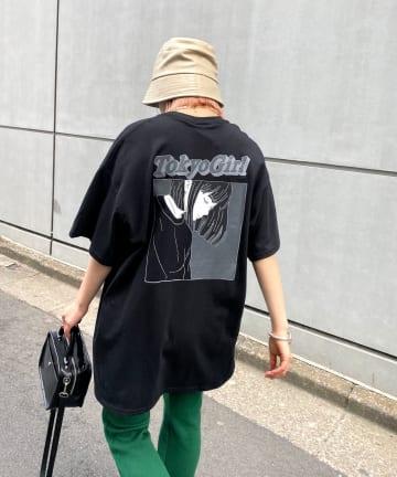 WHO'S WHO gallery(フーズフーギャラリー) 《WEB限定》東京ガール カラーフレームTEE