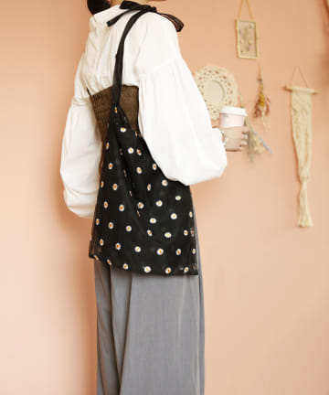 ASOKO(アソコ) 【fem fem fem】刺繍ワンショルダーバッグ
