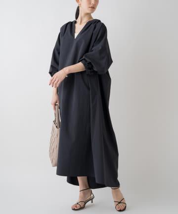 Loungedress(ラウンジドレス) スキッパーマキシシャツワンピース