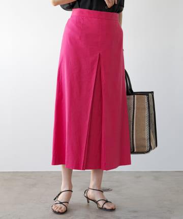 Loungedress(ラウンジドレス) リネンセミフレアスカート