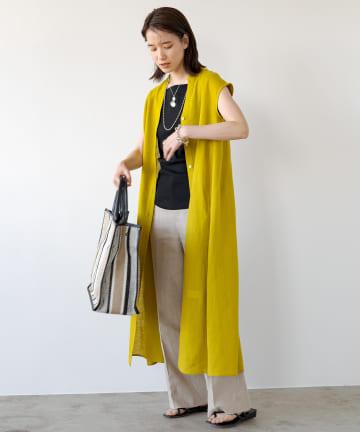 Loungedress(ラウンジドレス) リネンマキシシャツワンピース