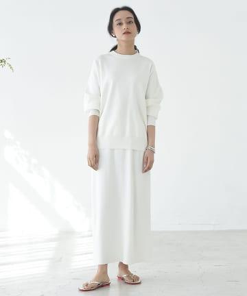 OUTLET premium(アウトレット プレミアム) 【手洗い可】総針ロングスカート