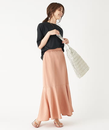 OUTLET premium(アウトレット プレミアム) 【手洗い可】ヴィンテージデシンマーメイドスカート