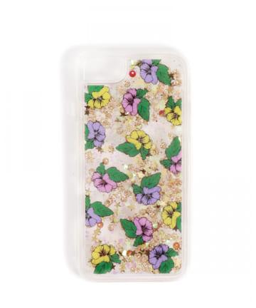 3COINS(スリーコインズ) 【ASOKO】FLOWERラメiPhone7・8ケース