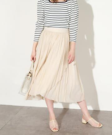 natural couture(ナチュラルクチュール) やわらかシアープリーツラップスカート