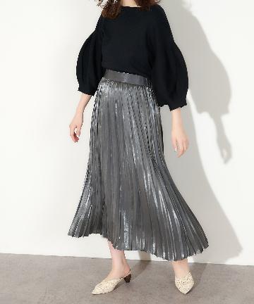 natural couture(ナチュラルクチュール) オーロラプリーツスカート