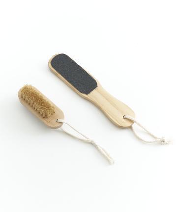 3COINS(スリーコインズ) 【TUDUKU】天然素材を使ったフットブラシセット