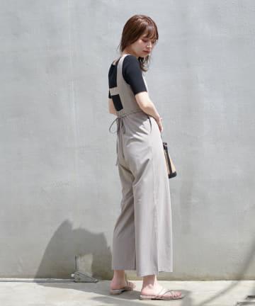 natural couture(ナチュラルクチュール) ちょっとモードな大人のサロペ