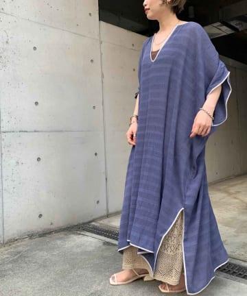 Thevon(ゼヴォン) 【WEB限定】楊柳カフタンワンピース