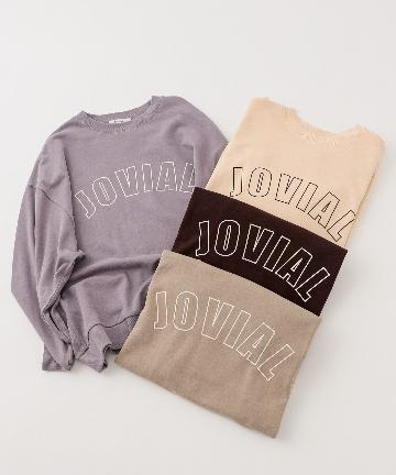 NICE CLAUP OUTLET(ナイスクラップ アウトレット) 【NUNIFE】JOVIAL ロゴスウェット