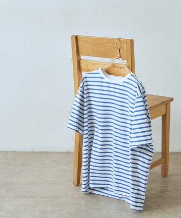 LIVETART(リヴェタート) 《three dots》ボーダーTシャツ