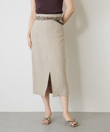 Whim Gazette(ウィム ガゼット) HEAVYリネンタイトスカート