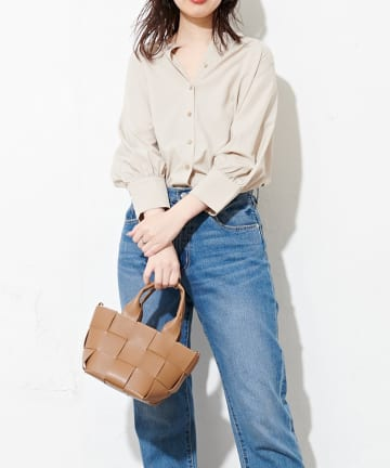 natural couture(ナチュラルクチュール) 編み込みちびトートバッグ