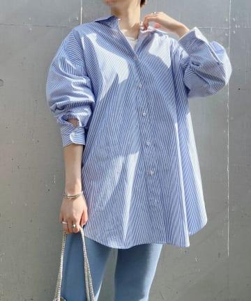 SHENERY(シーナリー) ストライプBIGシャツ