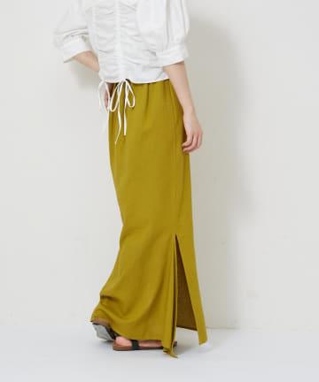 CIAOPANIC(チャオパニック) リネン混スリットマーメイドスカート
