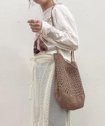 Lattice(ラティス) マクラメ編みバッグ