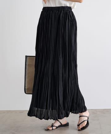 Loungedress(ラウンジドレス) レースプリーツギャザースカート