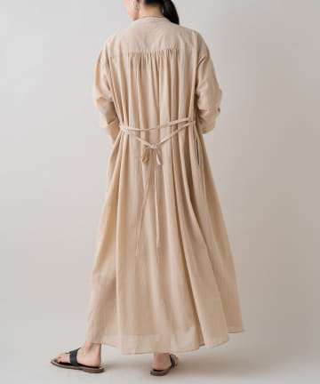 Loungedress(ラウンジドレス) ボイルクリンクルシャツワンピース