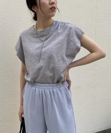 CAPRICIEUX LE'MAGE(カプリシュレマージュ) サイドタックフレンチTシャツ