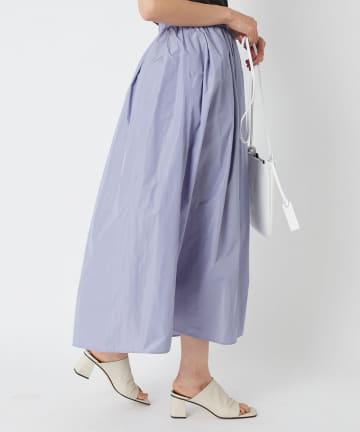 La boutique BonBon(ラブティックボンボン) 【洗える】シャンブレータフタマキシスカート