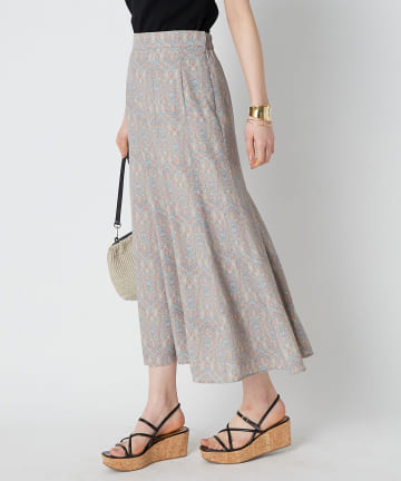 La boutique BonBon(ラブティックボンボン) 【洗える】ペイズリーマーメイドスカート