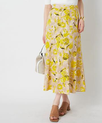 La boutique BonBon(ラブティックボンボン) 【洗える・セットアップ可】コットンカットジャガードマーメイドスカート