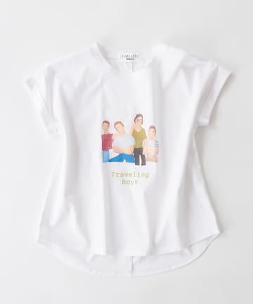 BONbazaar(ボンバザール) 《長谷川 有里's キャラクター》Tシャツ Traveling Boys