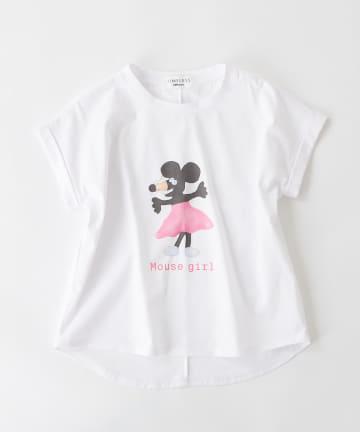 BONbazaar(ボンバザール) 《長谷川 有里's キャラクター》Tシャツ Mouse Girl