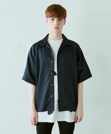 Lui's(ルイス) サテンオープンカラーシャツ