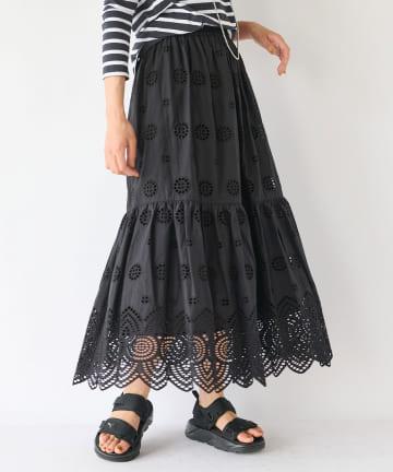 La boutique BonBon(ラブティックボンボン) 【Liyoca(リヨカ)】コットンレーススカート