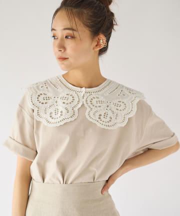 La boutique BonBon(ラブティックボンボン) 【洗える・Liyoca(リヨカ)】付け襟Tシャツ