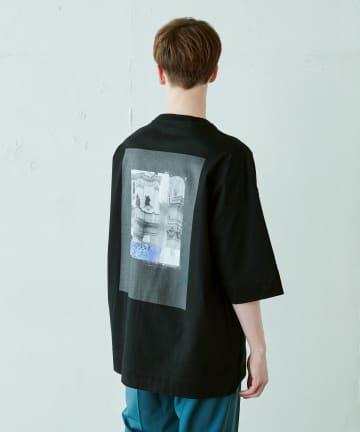 Lui's(ルイス) アーキテクチャー柄 ビッグTシャツ