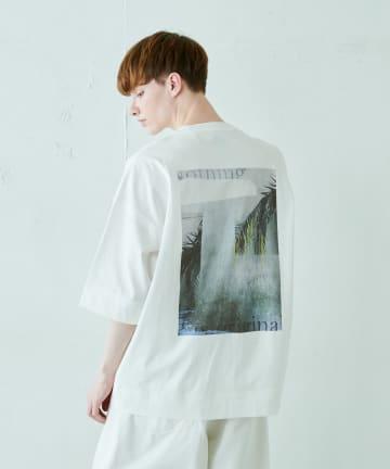 Lui's(ルイス) コンクリートジャングル柄 ビッグTシャツ