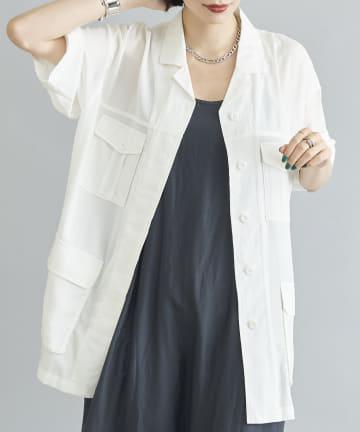 DOUDOU(ドゥドゥ) サファリシャツジャケット