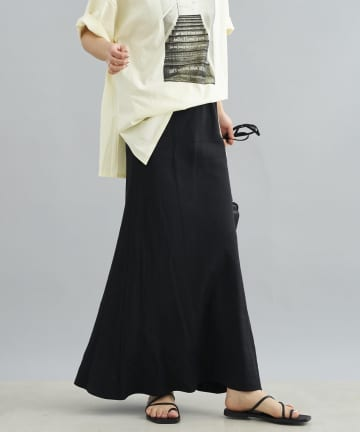DOUDOU(ドゥドゥ) テンセル麻スカート