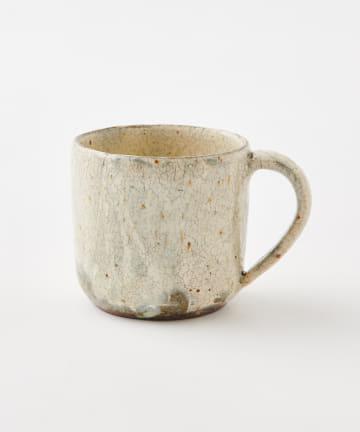 LIVETART(リヴェタート) 《馬渡  新平》ヒビ粉引きマグカップ