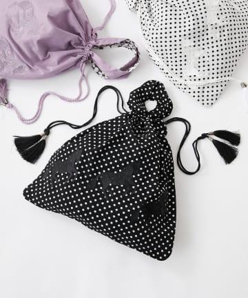 ear PAPILLONNER(イア パピヨネ) (web限定)馬刺繍巾着トートバッグ