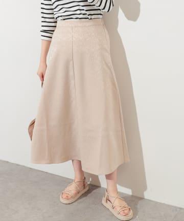 natural couture(ナチュラルクチュール) アンティークジャガード大人フレアスカート