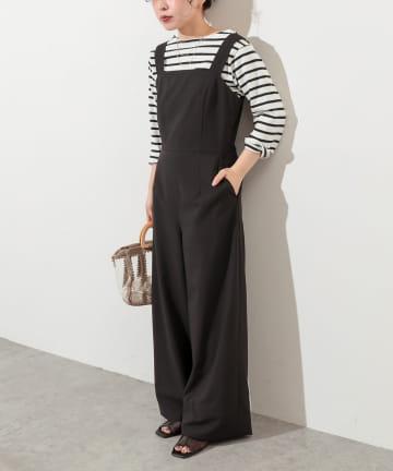 natural couture(ナチュラルクチュール) ちょっとモードな大人のサロペ Sサイズ