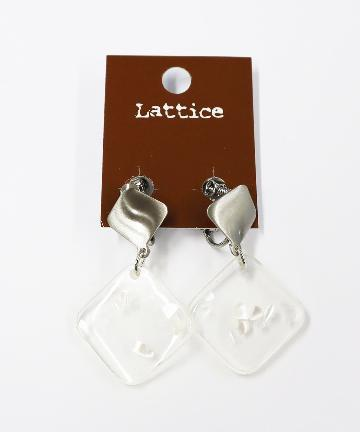 Lattice(ラティス) 封入クリア下がりイヤリング