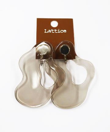 Lattice(ラティス) ウェーブクリアイヤリング