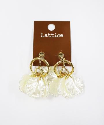 Lattice(ラティス) フラワーモチーフメタルイヤリング